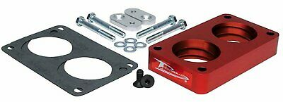 Silver Throttle Body Spacer For 1987-1995 Ford F150 or Bronco 5.0L 5.8L V8