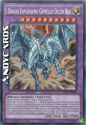 DRAGO ESPLOSIONE GEMELLO OCCHI BLU • Segreta • MP17 IT056 • Yugioh! • ANDYCARDS