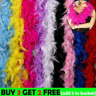 2M Feather Boa Strip Fluffy Craft Costume Fancy Dress Xmas Party Wedding Decor #