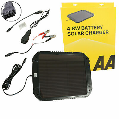 AA 4.8W 12V Car Van Caravan Solar Panel Trickle Battery Charger Power Supply