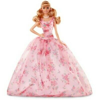 NEW Barbie Collector: Birthday Wishes Doll with Blonde Hair, 11.5-Inch, Wearin