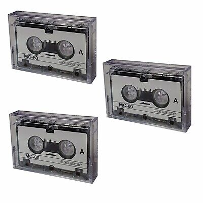 3 Pack Micro Cassette Tapes MC-60 For Micro Cassette Voice Recorders
