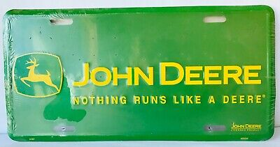 John Deere Tractors License Plate Nothing Runs Like a Deere Licensed Product New