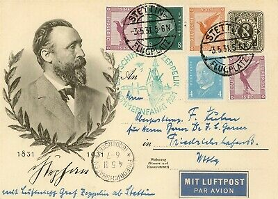 Covers Zeppelin 1931 Airship Germany Hindenburg Airmail Pommernfahrt