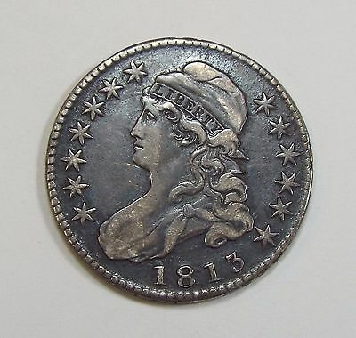 BARGAIN 1813 Capped Bust/Lettered Edge Half $ EXTRA FINE Silver 50-Cents