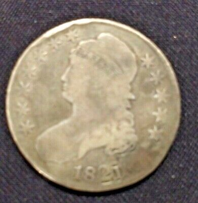 1821 Bust Half Dollar - Cull Details  Type Coin Filler NO RESERVE FREE SHIPPING