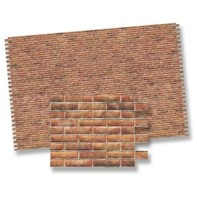 Miniature Dollhouse 1:12 Scale Modern Brick Wall Sheet - Wm34977