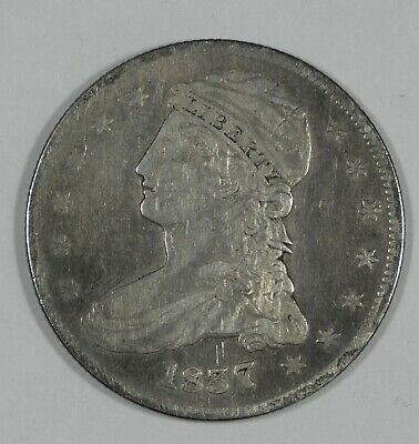 1837 Capped Bust/Reeded Edge Half Dollar FINE+ Silver 50-Cents