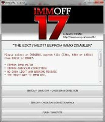 Immo Off 17 Full EDC17 MED17 IMMOBILIZER SOLUTION