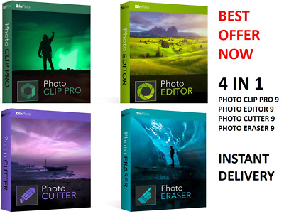 Inpixio Photo Clip Pro 9 Photo Editor Photo Erazer Photo Cutter Delivery Full