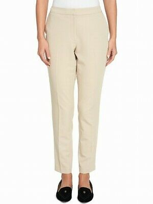 Tommy Hilfiger Womens Pants Sand Beige Size 12 Slim Ankle Leg Stretch $89 670
