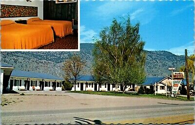 Postcard BC Osoyoos Avalon Motel & Mobile Home Park 1970s K4
