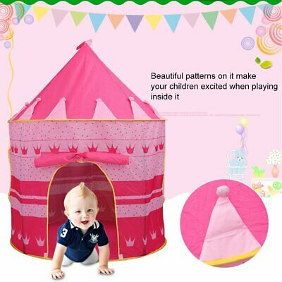 Childrens Kids Baby Foldable Play Tent Fairy Girls Playhouse Indoor Outdoor JO