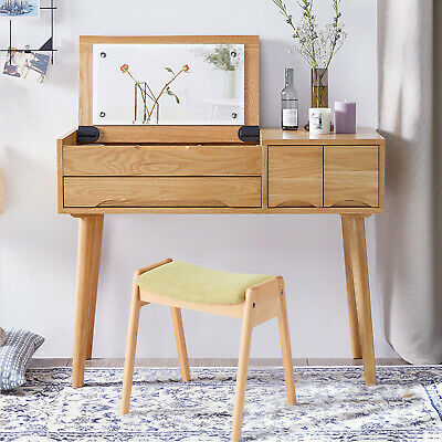 Dressing Bench Pin Wood Table Stool Chair Shoe Change Bench Upholstered Stool