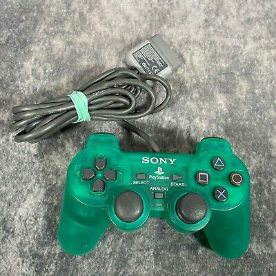 Official Sony PlayStation 1 PS1 Green DualShock Analog Controller Pad SCPH-1200