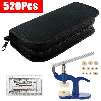 520Pcs Professional Watch Repair Kit Back Case Strap Remover Tool Set Watchmaker