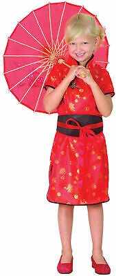 Girls Chinese Girl Costume Oriental Coolie Asian Thai Fancy Dress Outfit