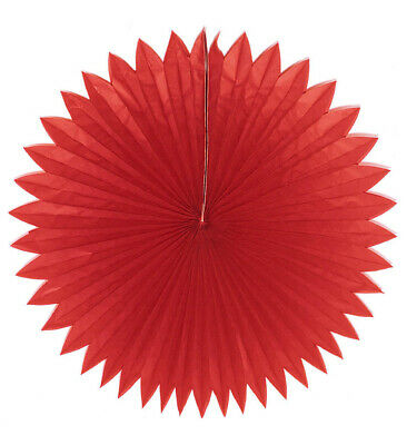CHINA PAPER FANS RED 75cm Accessory for Chinese Oriental Far East Fancy Dress