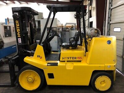 HYSTER S155XL2 Forklift Rigger Special 15500 lbs Cushion Tires LPG Triple Mast