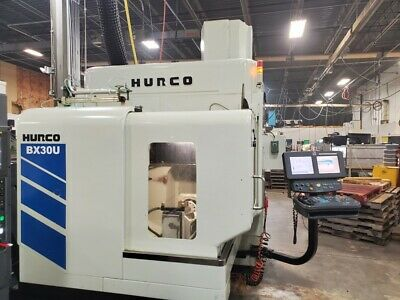 USED HURCO BX30U CNC VERTICAL MILL 2012 5-AXIS TSC 18000 rpm Probes Chip Clean