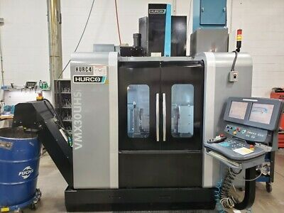 USED HURCO VMX30UHSi CNC VERTICAL MILL 2013 5-Axis 18000 RPM TSC Probes Chip