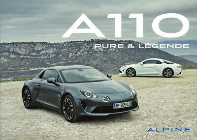 Catalogue brochure publicite prospectus RENAULT ALPINE A110 Pure & Legend (D-19)