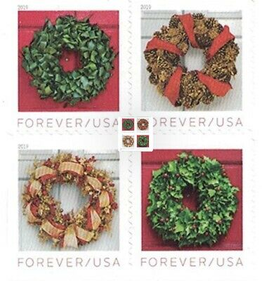 Christmas Wreaths 20 per sheet/Forever US 1st Class Postage Stamps New & Usable