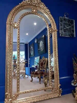 Extra Large Gold Ornate Mirror Not Antique Age Unknown 192cms X 118cms 39 99 Picclick Uk
