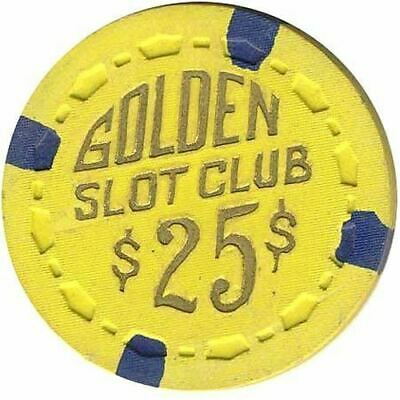Golden Slot Club Casino Las Vegas NV $25 Chip 1955