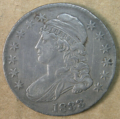50c 1833 Capped Bust Half Dollar VF+ Details * AvenueCoin