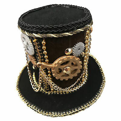 Steampunk Victorian Western 19th Science Fiction Women Costume Mini Top Hat