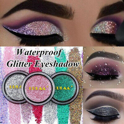 LULAA Shimmer Glitter Eye Shadow Powder Palette Eyeshadow Cosmetic Makeup 2g UK