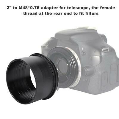 """Aluminum Alloy 2"""" to M48*0.75 Adapter for Astronomical Telescope Eyepiece"""