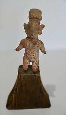 Pre-Columbian Antiquities Colima Figure Sculpture on a base