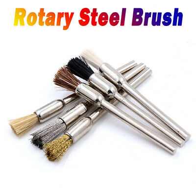 1pcs 3mm Rotary Steel Wire Wheel Brush Cup Tool Shank for Dremel Drill Rust Weld
