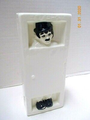 Vintage Japan CHARLIE CHAPLIN COIN BANK Telephone Booth-Complete w/ Stopper-Mint