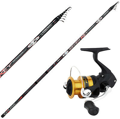 KP4429 Kit Pesca Bolognese Canna Colmic Seven Key 7 m Mulinello FX 2500 RNG