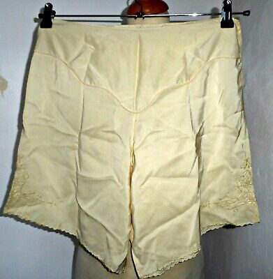 Vintage 40S  Silk Bloomers French Knickers Tap Pants Uk 12 Wwii