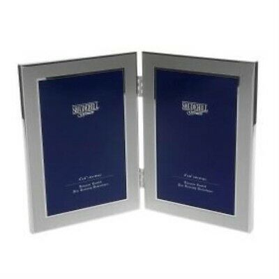 Double Silver Chrome Photo Frame 4x6 inches NEW