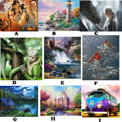 5D Diamond Painting Embroidery Cross Stitch Pictures Art Craft Mural Kit Decor I