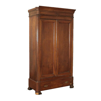 Wardrobe with Two Swing Doors Walnut Second 19th CenturyHalf  France
