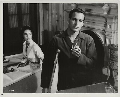 """RT578 ELIZABETH TAYLOR /& PAUL NEWMAN IN /""""CAT ON A HOT TIN ROOF/"""" 8X10 PHOTO"""