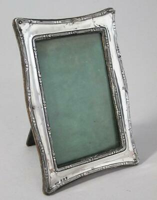 BEAUTIFUL ANTIQUE ART NOUVEAU SOLID STERLING SILVER PICTURE PHOTO FRAME 1910 c