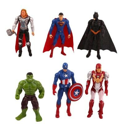 Marvel Avengers Superhero Action Figure PVC Batman Superman Hulk Toys Kids Gift