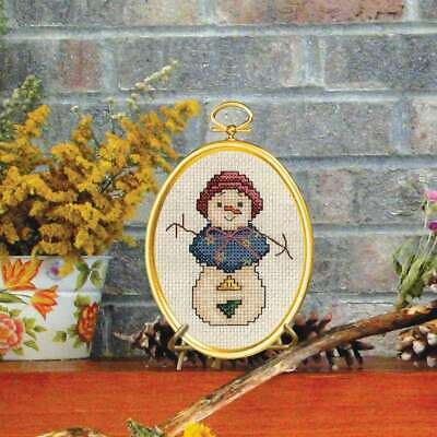 "Snowlady Mini Counted Cross Stitch Kit 3""X4"" 14 Count 049489008404"