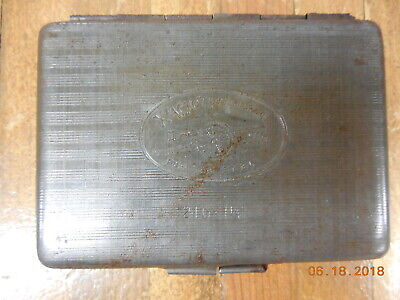 Vintage Medical Doctors X-Acto Hypodermic Needle Rustless Steel Carrying Case  @