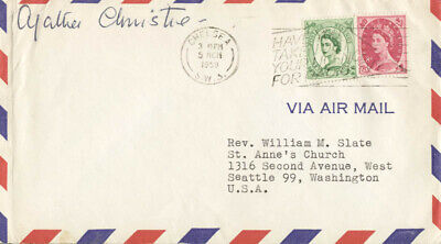 Agatha Christie - Envelope Signed Circa 1959