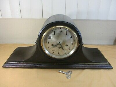 Antique Seth Thomas 113 Westminster Chime Model 80 Mantel Clock w Key & Pendulum