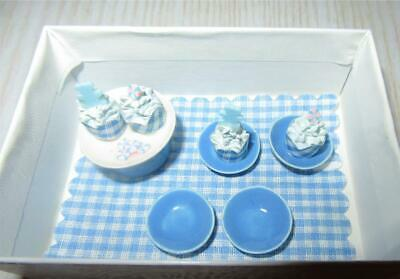 Miniature Dollhouse 1:12 Scale Cupcake Set Blue - 11B