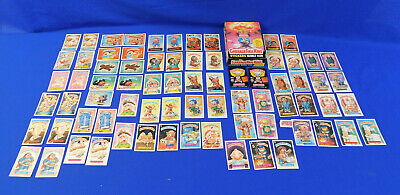 Lot of 80 Garbage Pail Kids Topps Stickers Bubble Gum Collectible Cards w/ Box